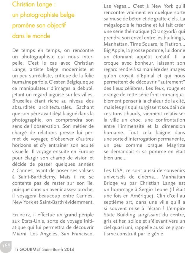 Christian L. Lange - Guide Ti Gourmet 2014