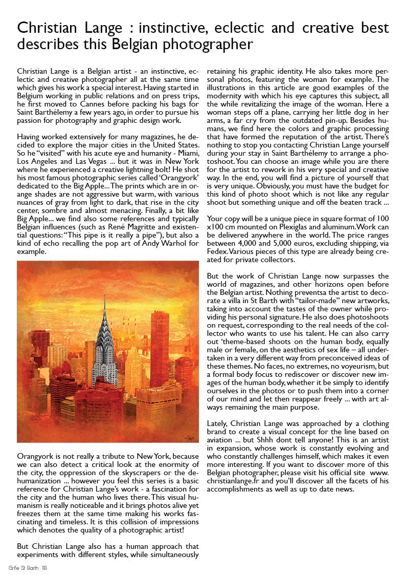 Christian L. Lange - Magazine Grife St Barth 2014