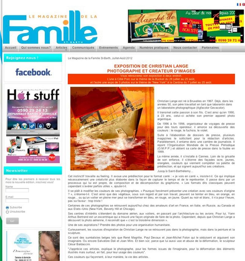 Christian L. Lange - Magazine La Famille 2012
