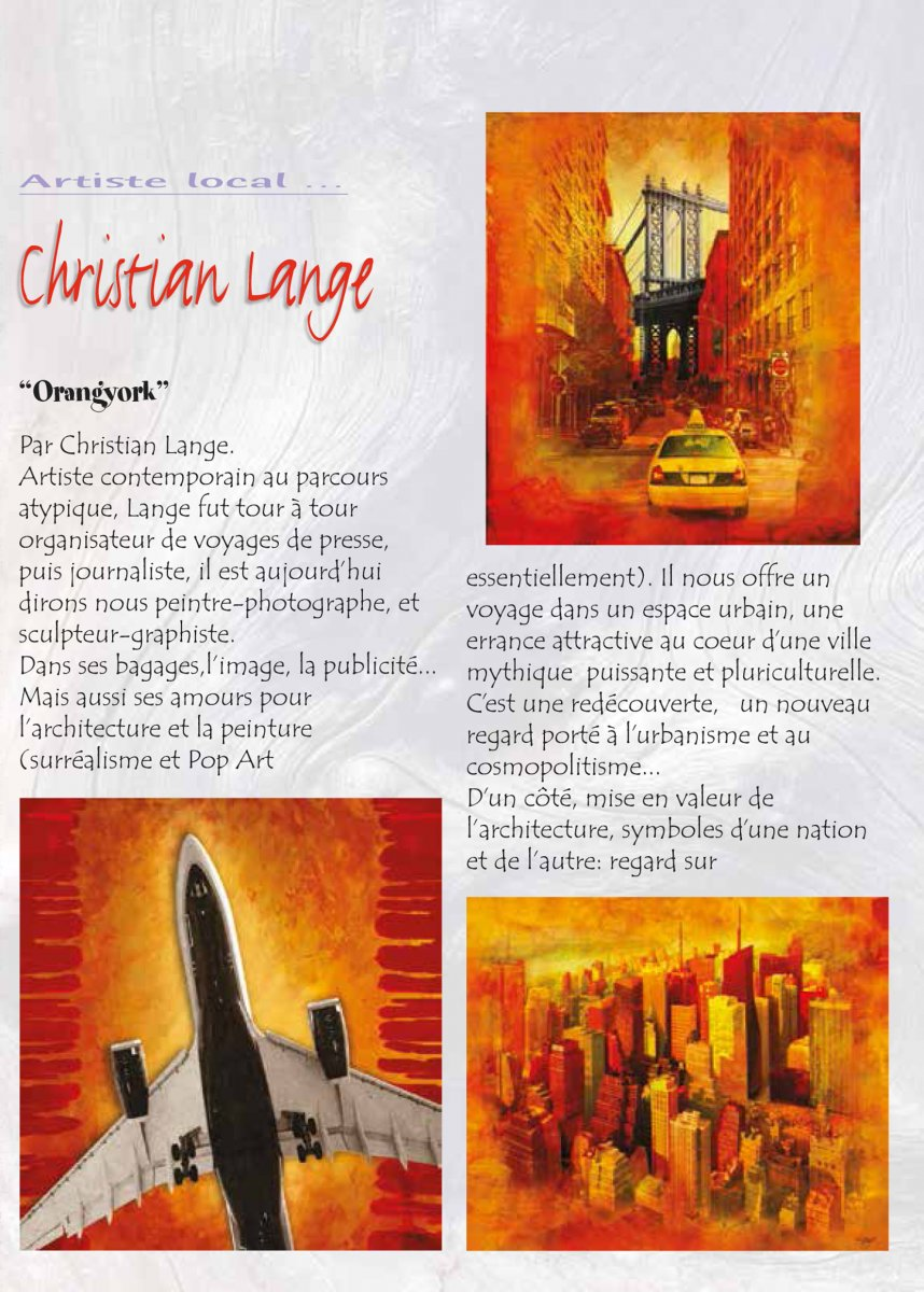 Christian L. Lange - Magazine Le Phare - Saint Martin