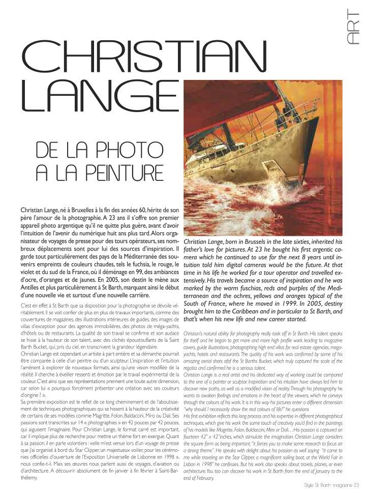 Christian L. Lange - Magazine StyleSaint Bart 2011