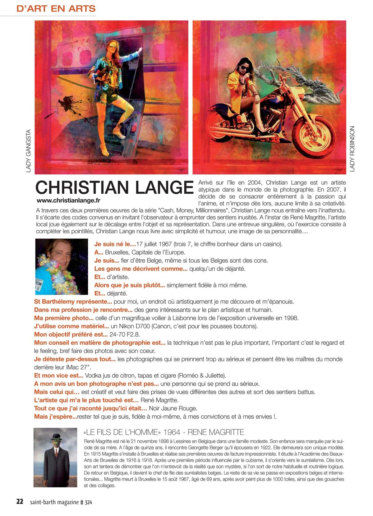 Christian L. Lange - St Barth Magazine - Mars 2015